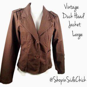 Vintage Duck Head Blazer Large Brown Double Button